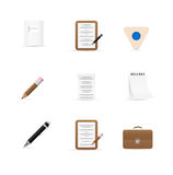 Set of Icons for office and stationery Stock Image