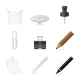 Set of Icons for office and stationery. Collection of Icons for office and stationery Royalty Free Stock Photo