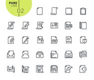 Set of icons for office workflow. Modern outline web icons collection for web and app design and development. Premium quality vector illustration of thin line Royalty Free Stock Image