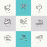 Set of icons Oncology Royalty Free Stock Photography