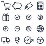Set of icons for online shop Royalty Free Stock Photos