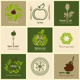 Set of icons organic products Stock Image