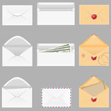 Set icons paper envelopes vector illustration Stock Photos