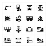 Set icons of parking Stock Image