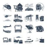 Set of icons passenger transportation, bus Stock Image