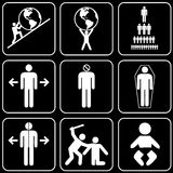 Set of icons (people) Stock Photos