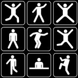 Set of icons (people) Stock Photography