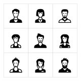 Set icons of people Royalty Free Stock Photo