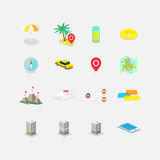 Set of icons with perspective Royalty Free Stock Images