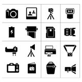 Set icons of photo Stock Photography
