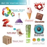 Set of icons and pictogram Royalty Free Stock Image
