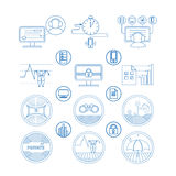 Set icons and pictogram Royalty Free Stock Photos
