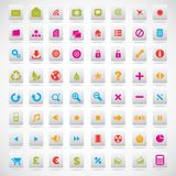 Set of icons pink, green, yellow Stock Photos