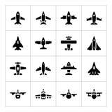 Set icons of planes Stock Photo