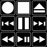 Set of icons (player, music) Stock Photography