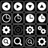 Set of icons (player, music) Royalty Free Stock Photos