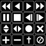 Set of icons (player, music) Stock Images