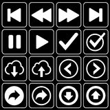 Set of icons (player, music) Royalty Free Stock Photo