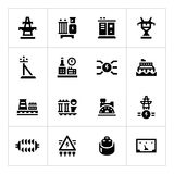 Set icons of power industry Royalty Free Stock Image