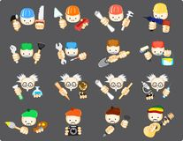 Set of icons of professions. Vector illustration of set of icons of professions Royalty Free Stock Images