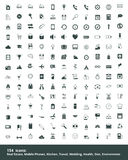 Set of  icons property, mobile, education, travel, cooking, heal Stock Photography
