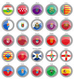 Set of icons. Provinces of Spain flags. Royalty Free Stock Photos