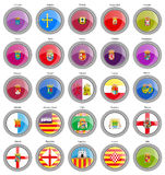 Set of icons. Provinces of Spain flags. Royalty Free Stock Photography