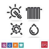 A set of icons for public services. Vector vector illustration
