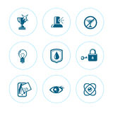 Set of icons of purity Royalty Free Stock Photos