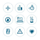 Set of icons of purity Stock Photography