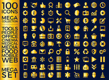Set Of Icons, Quality Icon Collection Vector Design Royalty Free Stock Photography
