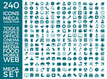 Set Of Icons, Quality Universal Pack, Big Icon Collection Vector Design Royalty Free Stock Photos