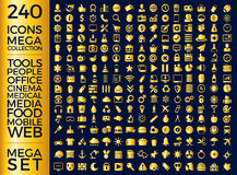 Set Of Icons, Quality Universal Pack, Big Icon Collection Vector Design Stock Photography