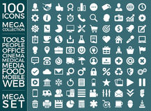 Set Of Icons, Quality Universal Pack, Big Icon Collection Vector Design Royalty Free Stock Photo