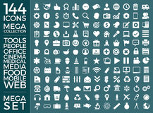 Set Of Icons, Quality Universal Pack, Big Icon Collection Vector Design Stock Photos