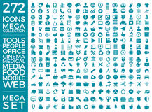 Set Of Icons, Quality Universal Pack, Big Icon Collection Vector Design Royalty Free Stock Image