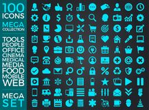 Set Of Icons, Quality Universal Pack, Big Icon Collection Vector Design. Eps 10 Stock Image