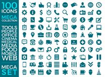Set Of Icons, Quality Universal Pack, Big Icon Collection Vector Design. Eps 10 Stock Images