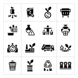 Set icons of recycling Stock Photo