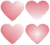 Set icons red heart shape Royalty Free Stock Photo