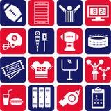 American Football icons Royalty Free Stock Photo
