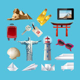 Set of icons related to journey Royalty Free Stock Images