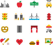 Set of icons related to New York Stock Photos