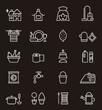 Set of icons relating to housekeeping Royalty Free Stock Photos