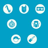 A Set of Icons Representing Different Music Genres royalty free illustration