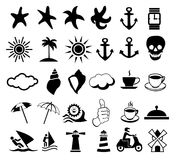 Set of icons about the rest Stock Photos