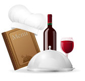 Set icons for restaurant vector illustration Royalty Free Stock Photo