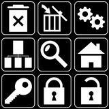 Set of icons (safety, office) Stock Photos