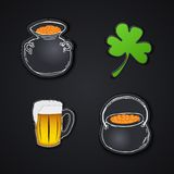 Set of icons. Saint Patrick's Day. Irish holiday Stock Image