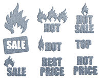 Set of icons for sale Royalty Free Stock Photo
